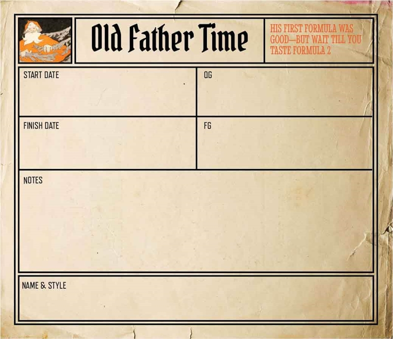 Picture of Father Time Keg Label