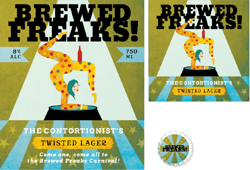 Picture for category Brewed Freaks Beer Label Design
