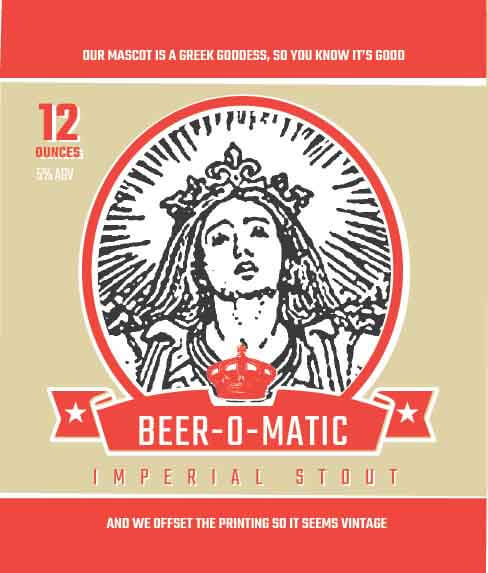 Picture of Beer-O-Matic Wine Label