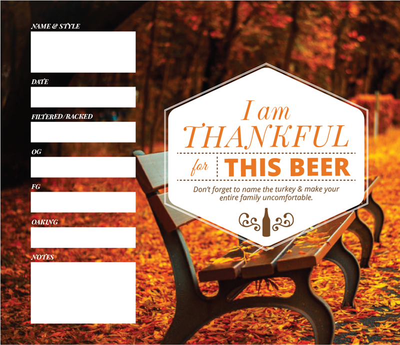 Picture of Thankful 4 Beer Keg Label