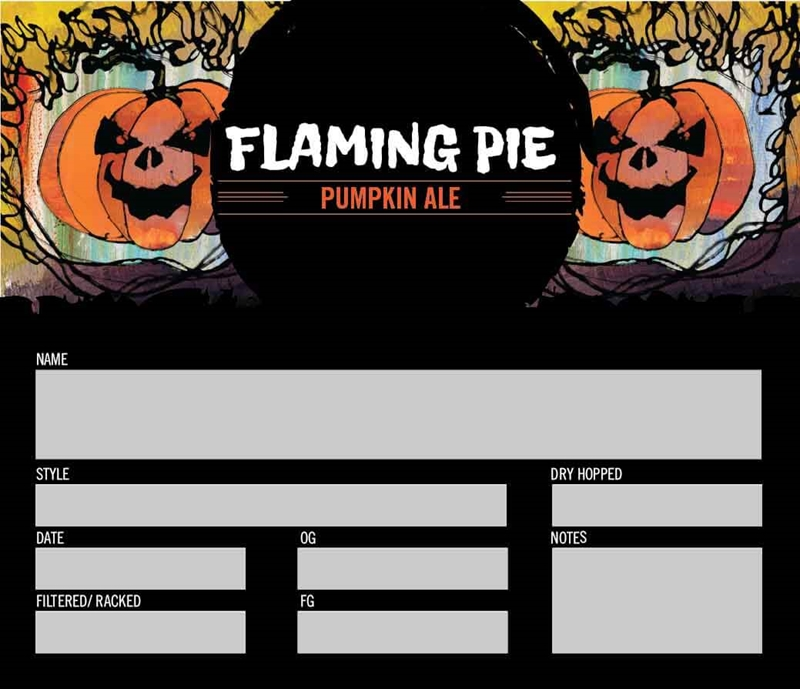 Picture of Flaming Pie Keg Label