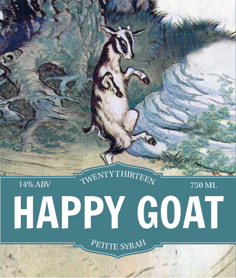 Picture of Happy Goat Wine Label