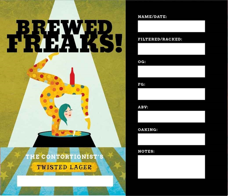 Picture of Brewed Freaks Keg Label