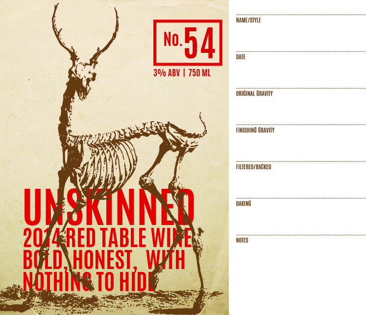 Picture of Unskinned Keg Label