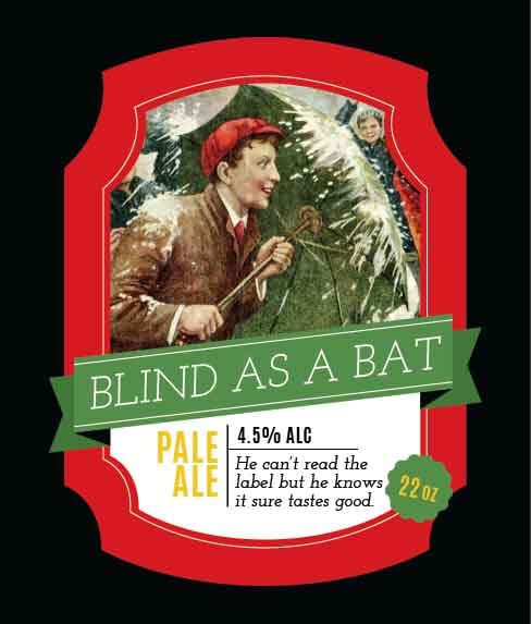 Picture of XMAS Blind as a Bat Wine Label