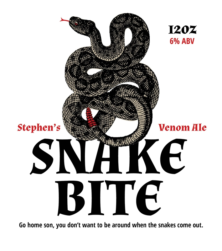 Picture of Snakebite Metal Sign