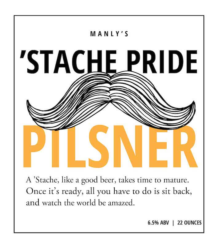 Picture of Stache Pride Metal Sign