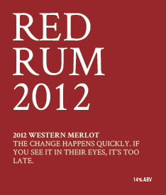 Picture of Red Rum Wine Label