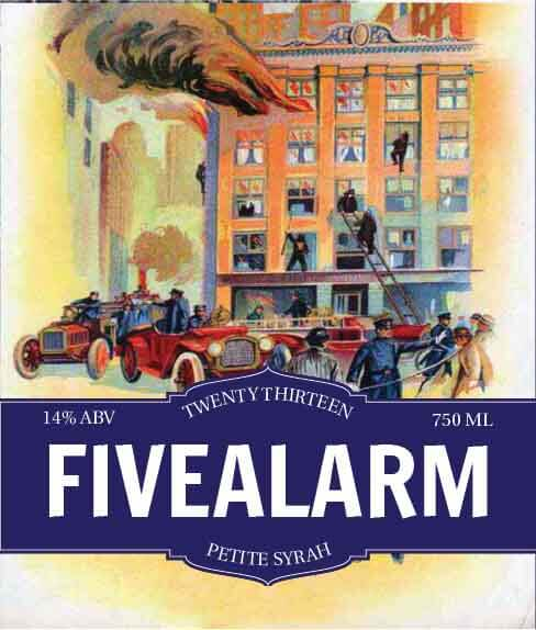 Picture of Five Alarm Wine Label