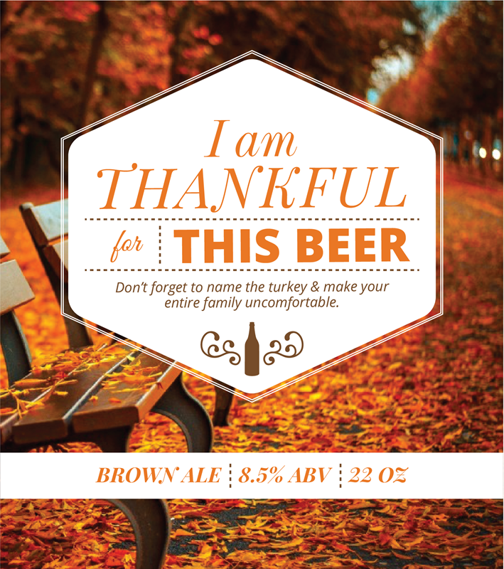 Picture of Thankful 4 Beer Metal Sign