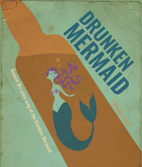 Picture of Drunken Mermaid Wine Label