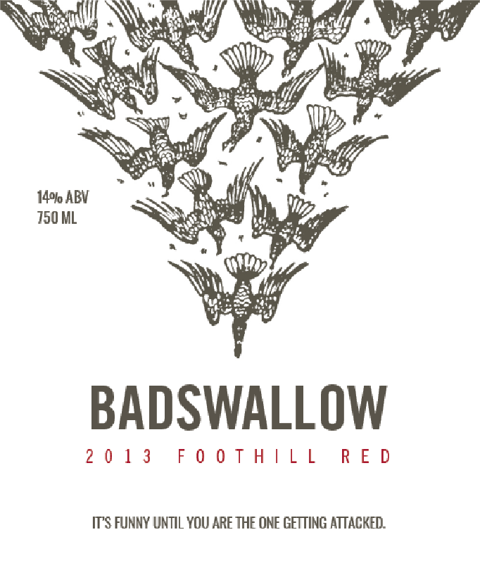 Picture of Bad Swallow Wine Label