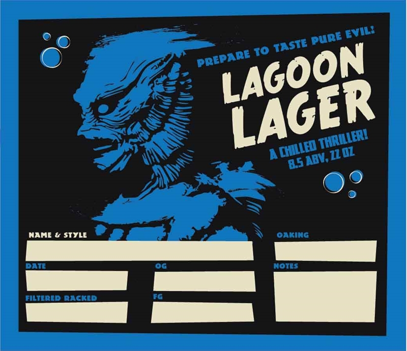 Picture of Creature Feature Keg Label