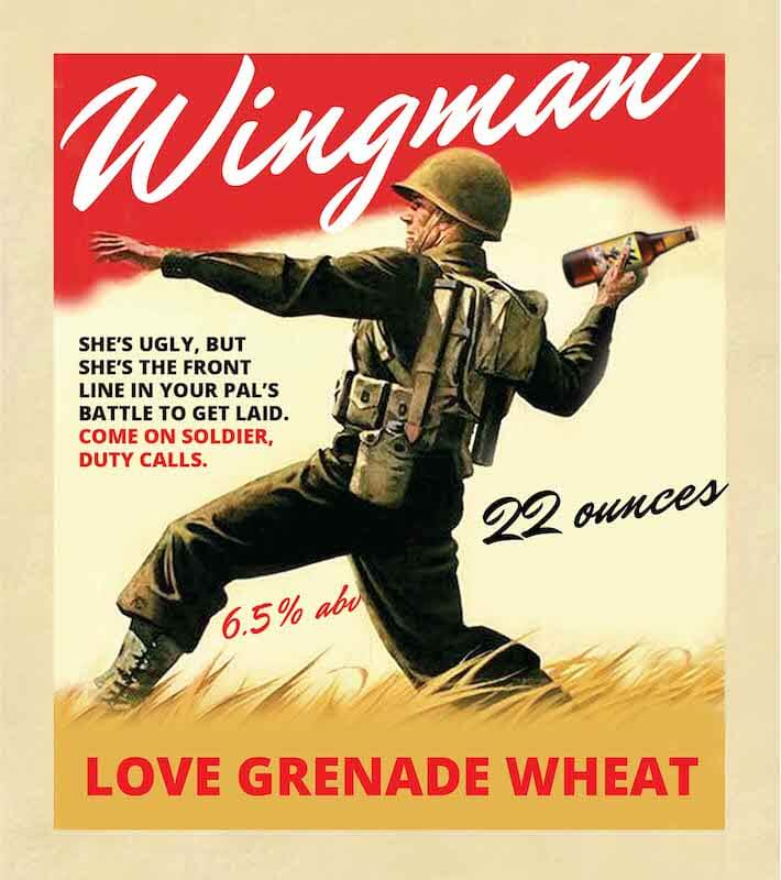 Picture of Wingman Metal Sign