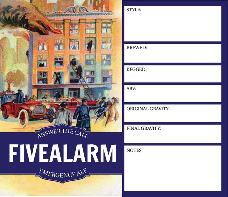 Picture of Five Alarm Keg Label