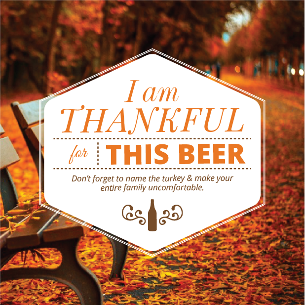 Picture of Thankful 4 Beer Coaster, Single Sided