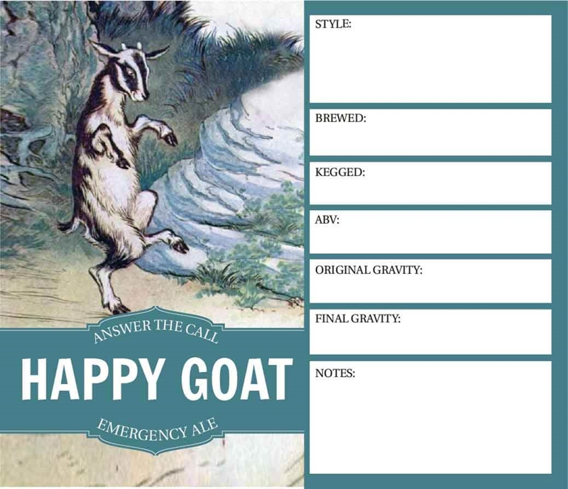 Picture of Happy Goat Keg Label