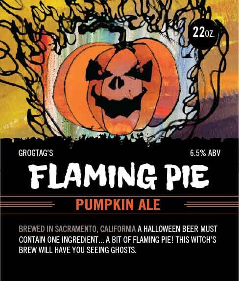 Picture of Flaming Pie Wine Label