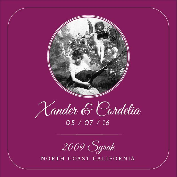 Picture of Wedding Syrah Coaster