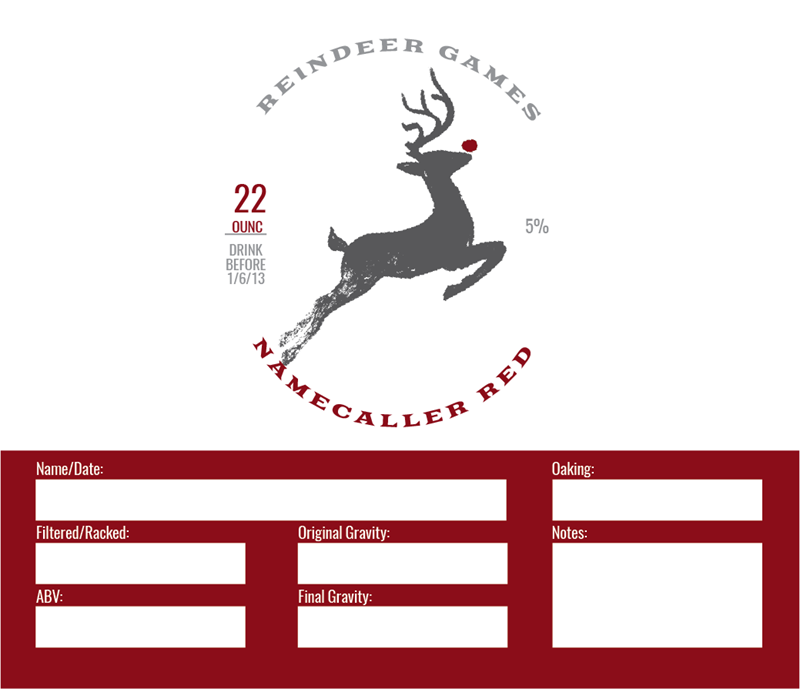 Picture of Reindeer Games Keg Label