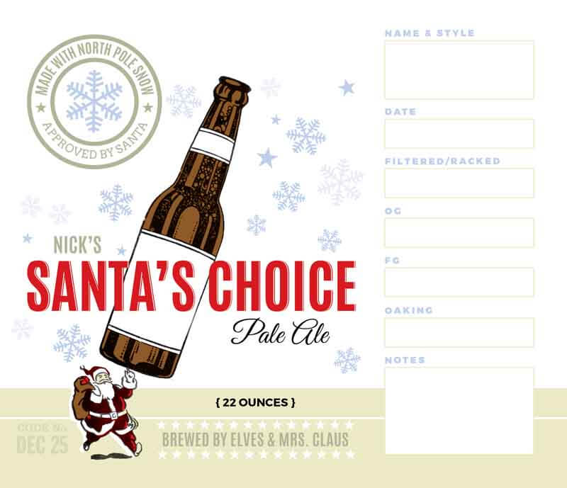 Picture of Santa's Choice Keg Label