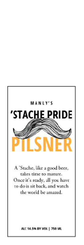Picture of Stache Pride HangTag