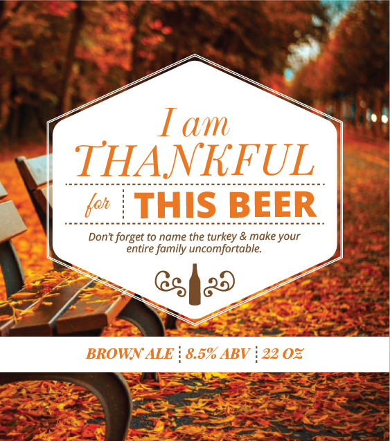 Picture of Thankful 4 Beer Oval Set