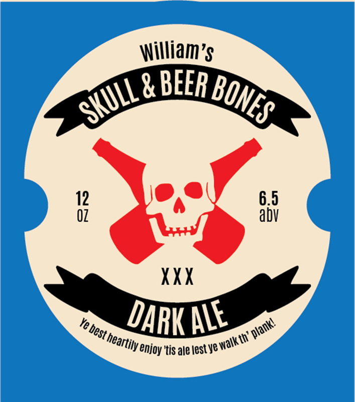 Picture of Skull & Beer Bones Oval Set