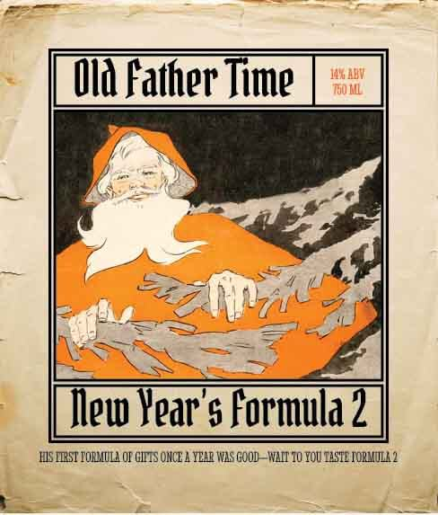 Picture of Father Time Wine Label