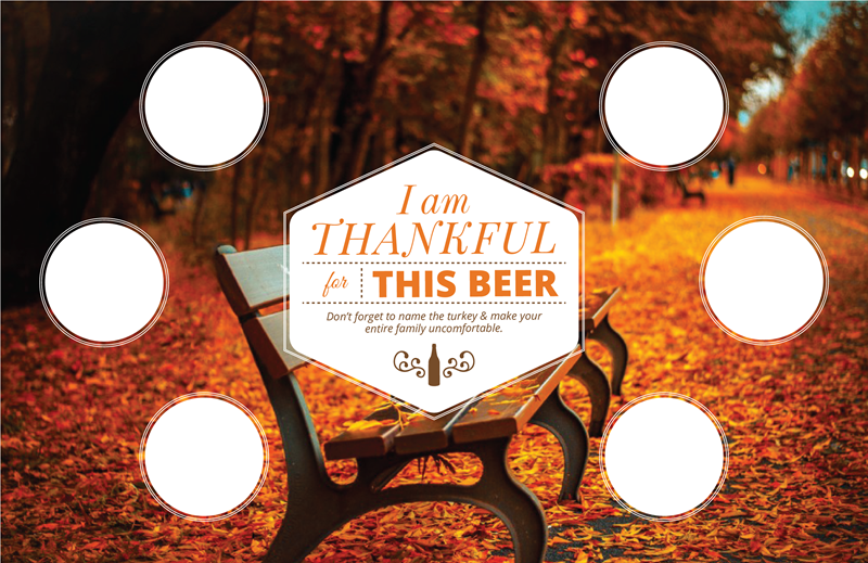 Picture of Thankful 4 Beer Tasting Mat