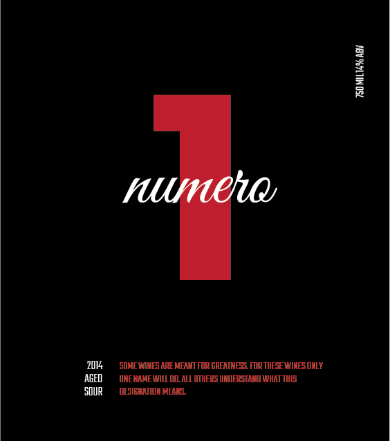 Picture of Numero Wine Label
