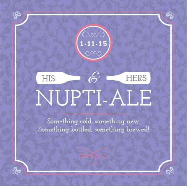Picture of Nuptial-Ale Coaster, Single Sided