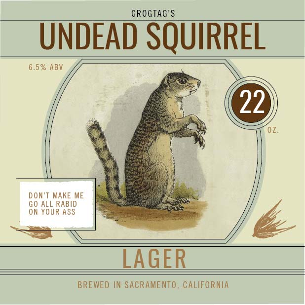 Picture of Undead Squirrel Coaster, Single Sided