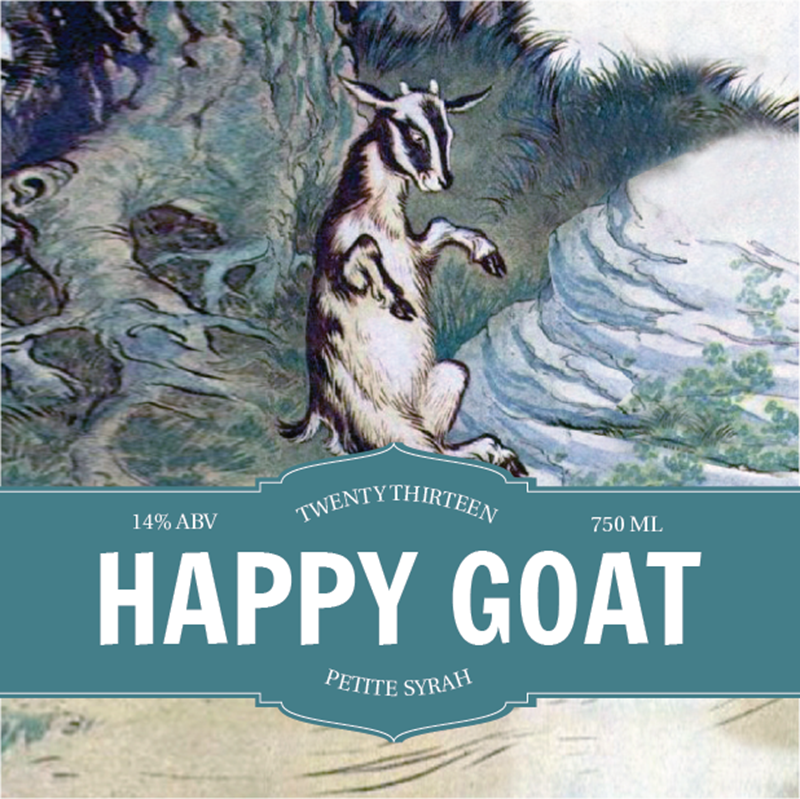 Picture of Happy Goat Coaster, Single Sided