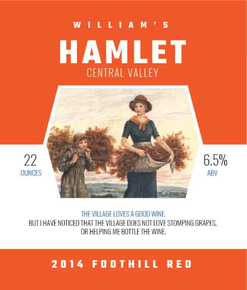 Picture of Hamlet Wine Label