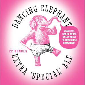 Picture of Dancing Elephant Coaster, Double Sided