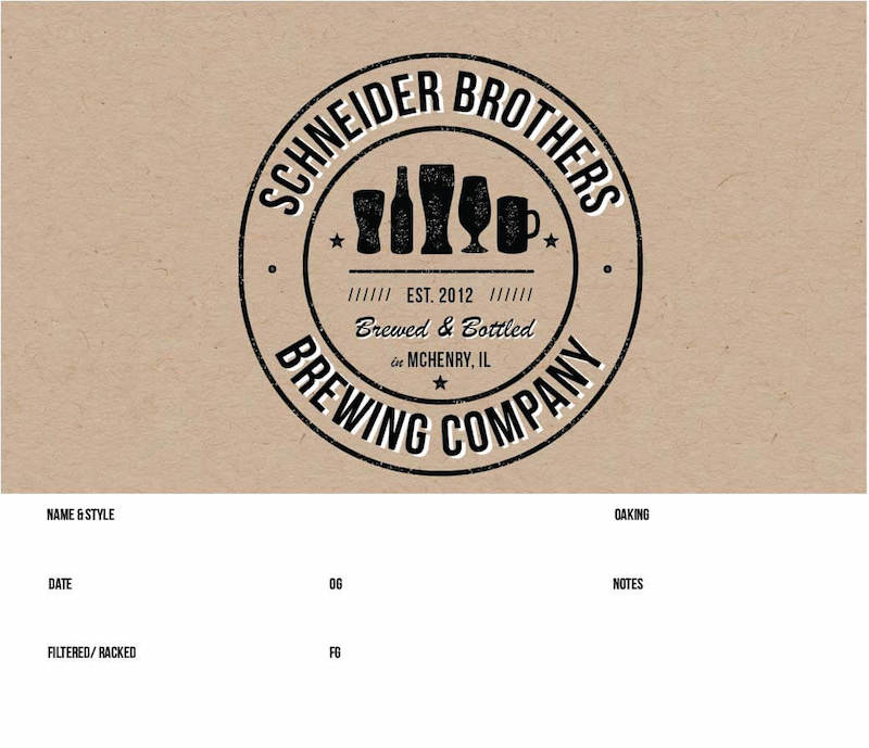 Picture of Schneider Bros Keg Label