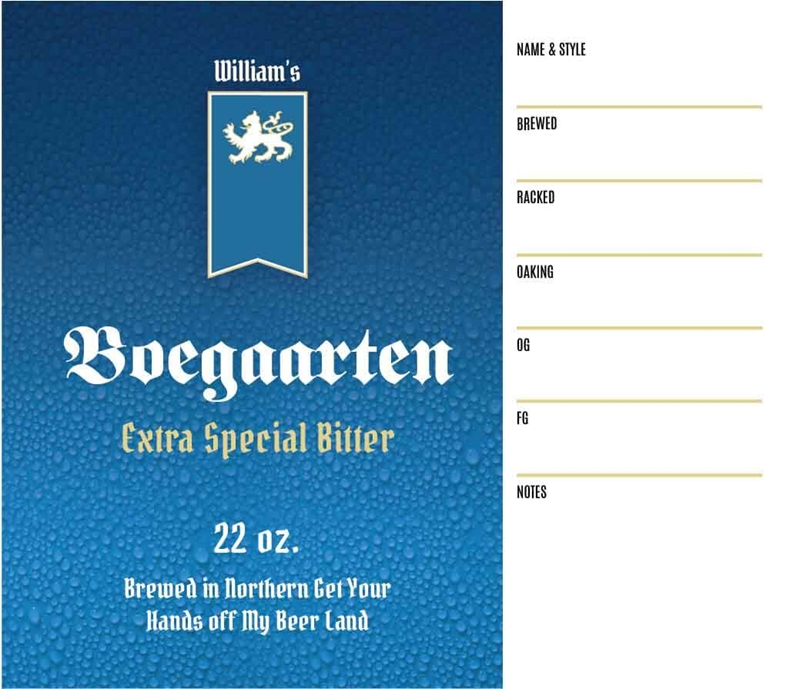 Picture of Boegaarten Keg Label
