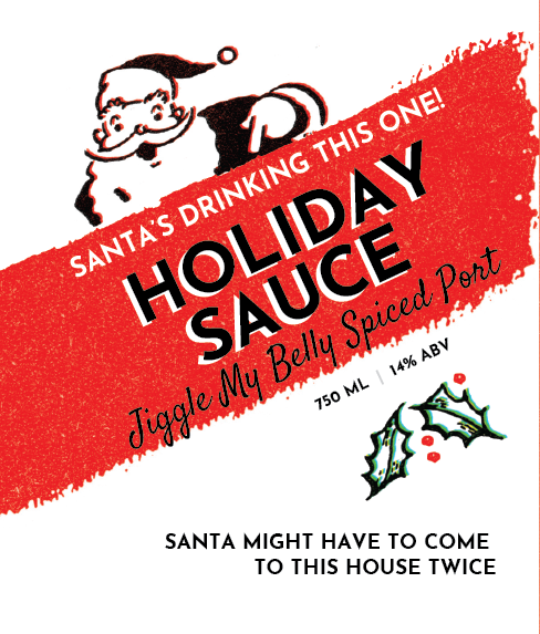 Picture of Holiday Sauce Wine Label