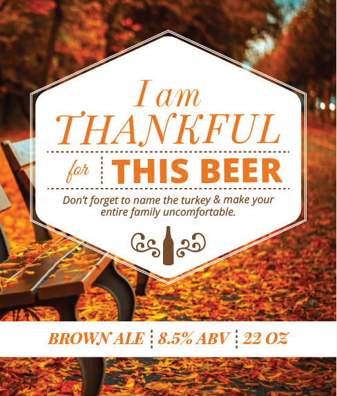 Picture of Thankful 4 Beer Wine Label