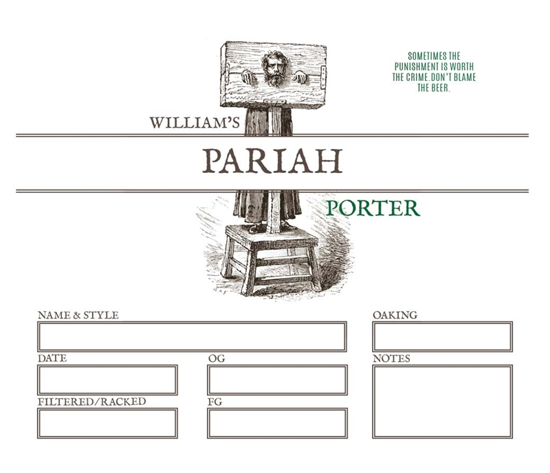 Picture of Pariah Keg Label
