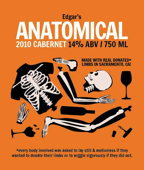 Picture of Anatomical Wine Label