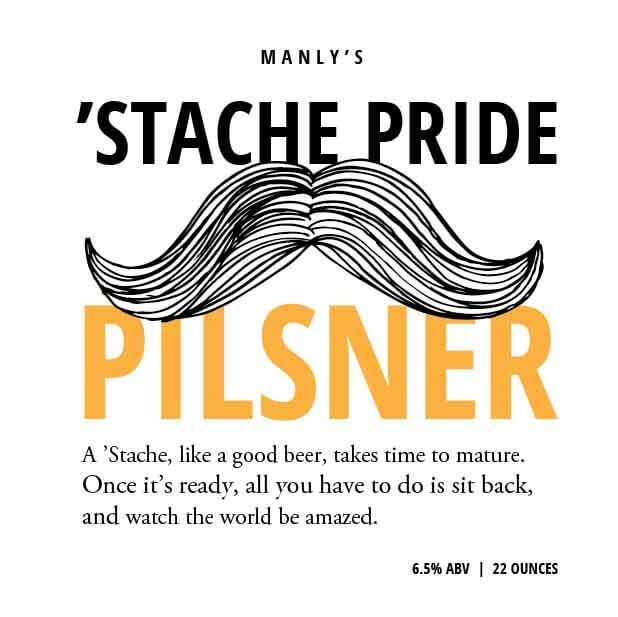 Picture of Stache Pride Coaster, Single Sided