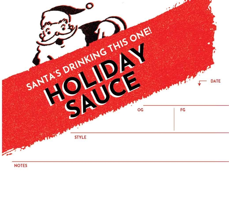 Picture of Holiday Sauce Keg Label