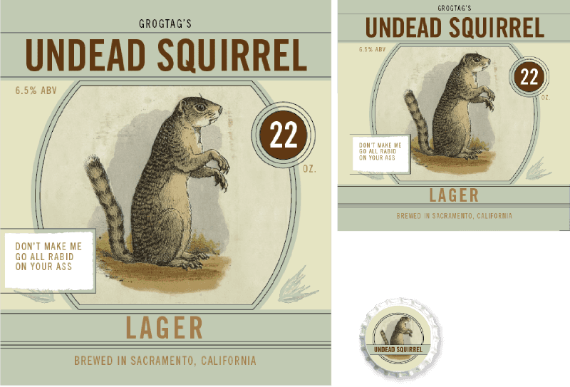 Picture for category Upload Photo, Undead Squirrel Design