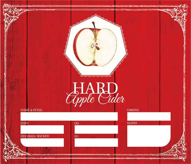 Picture of Hard Apple Cider Keg Label