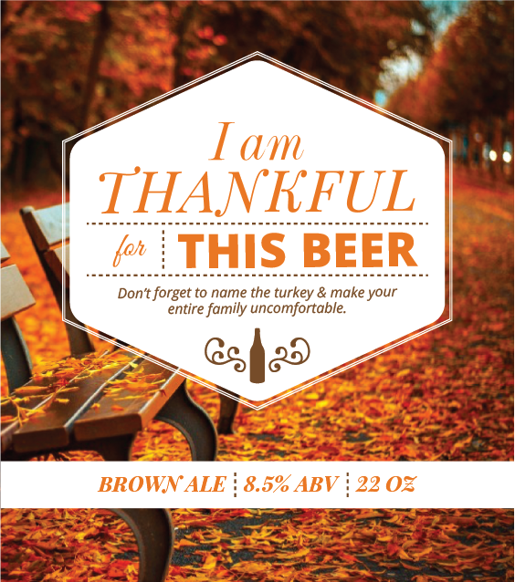 Picture of Thankful 4 Beer Square Set