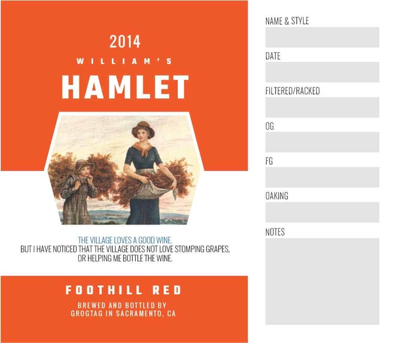Picture of Hamlet Keg Label