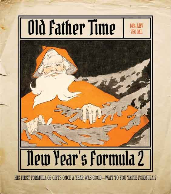 Picture of Father Time Metal Sign