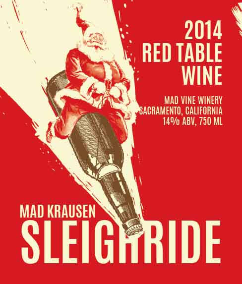 Picture of Sleigh Ride Wine Label